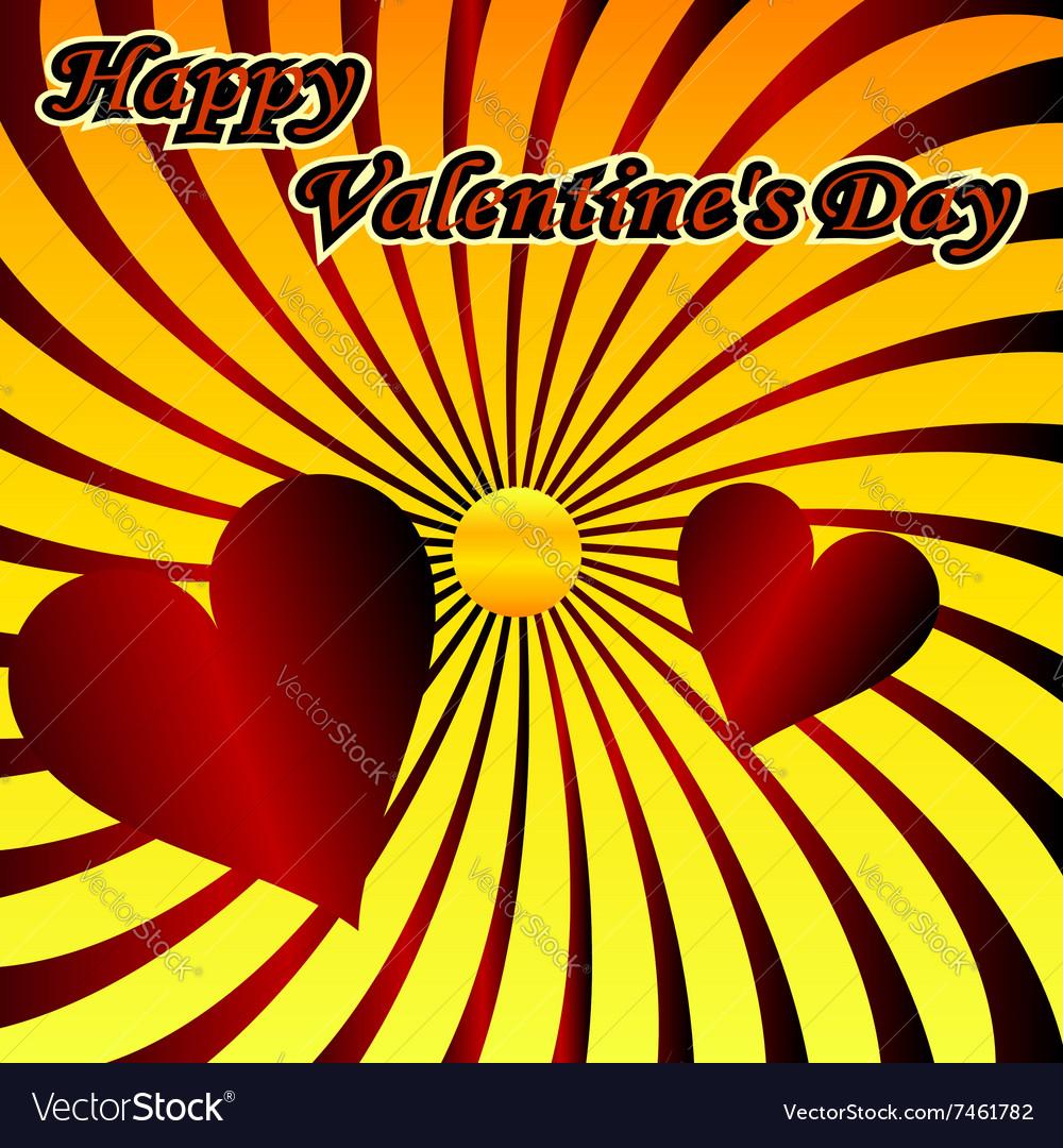 Heart love shape red symbol day design valentine r vector image