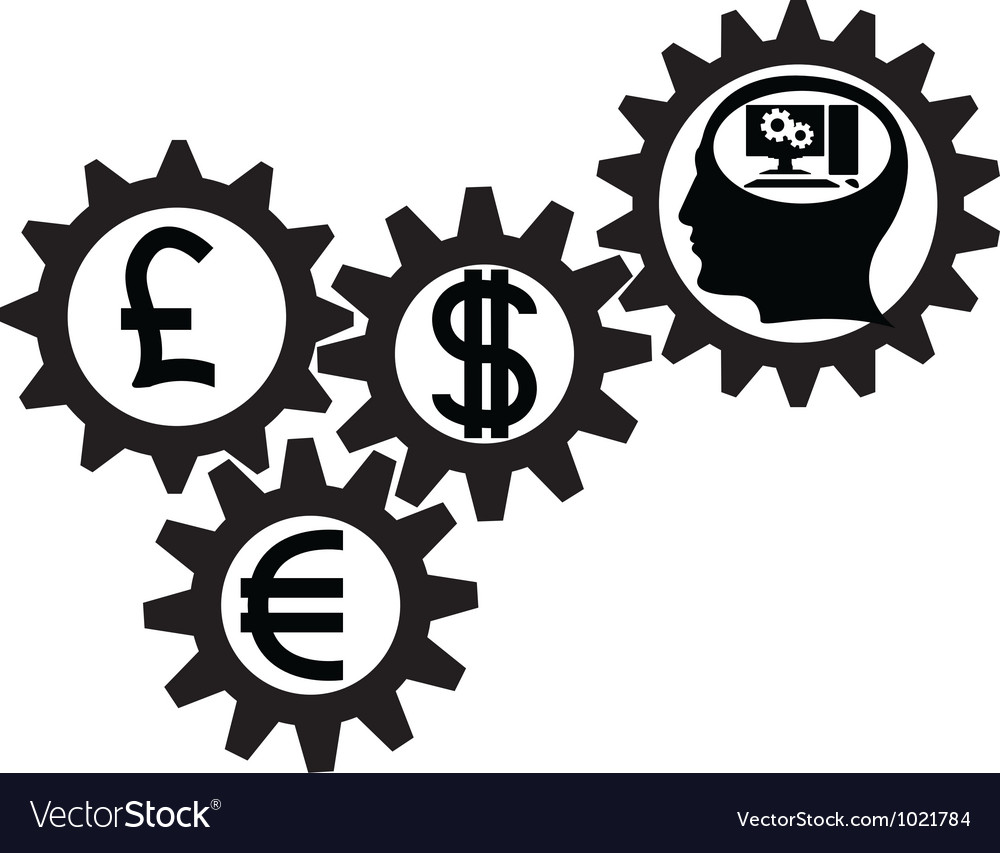 Gear of business vector image