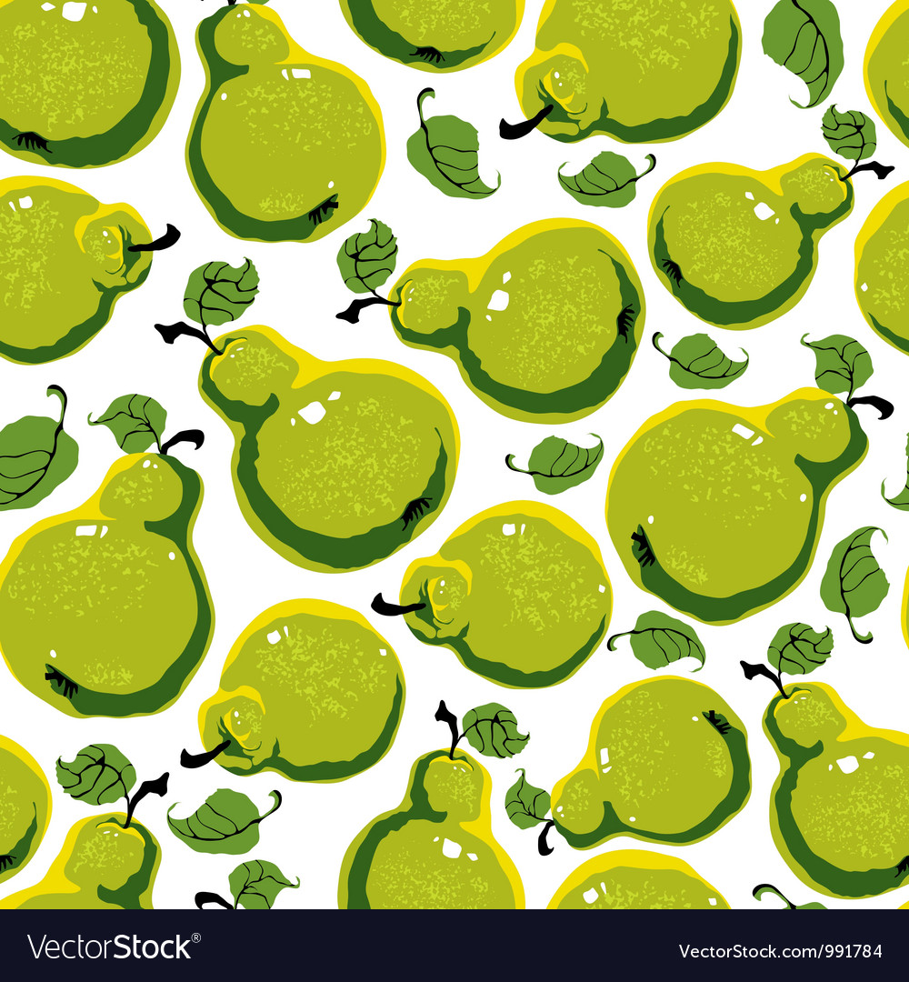 Pears seamless pattern vector image