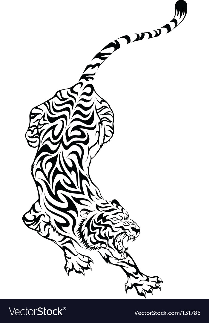Tiger tattoo vector image