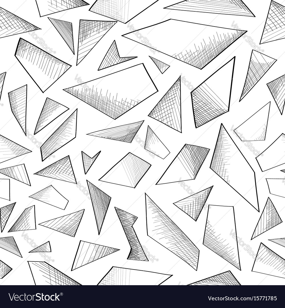 Abstract geometric foam seamless doodle pattern vector image