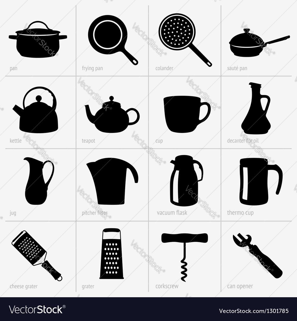 Kitchenware part 2 vector image