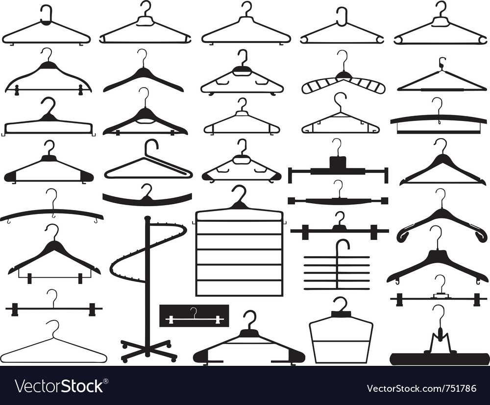 Hanger set vector image