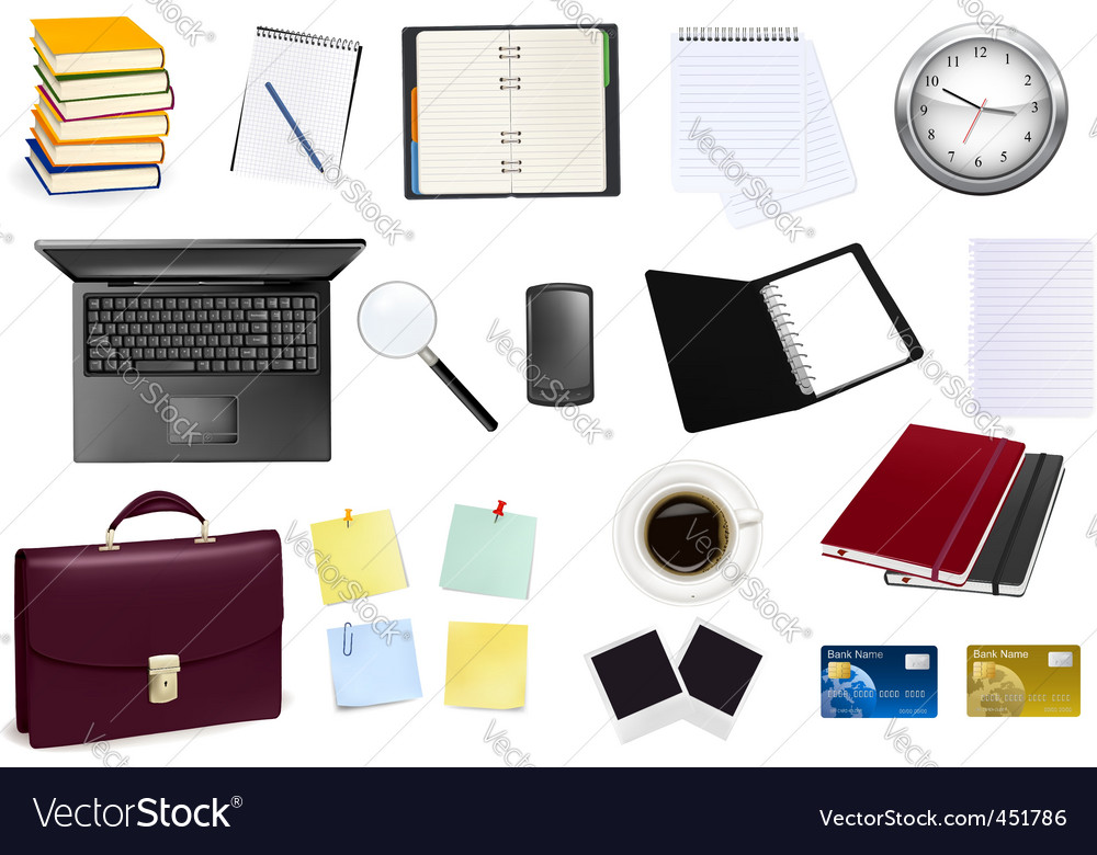 Collection of business element vector image