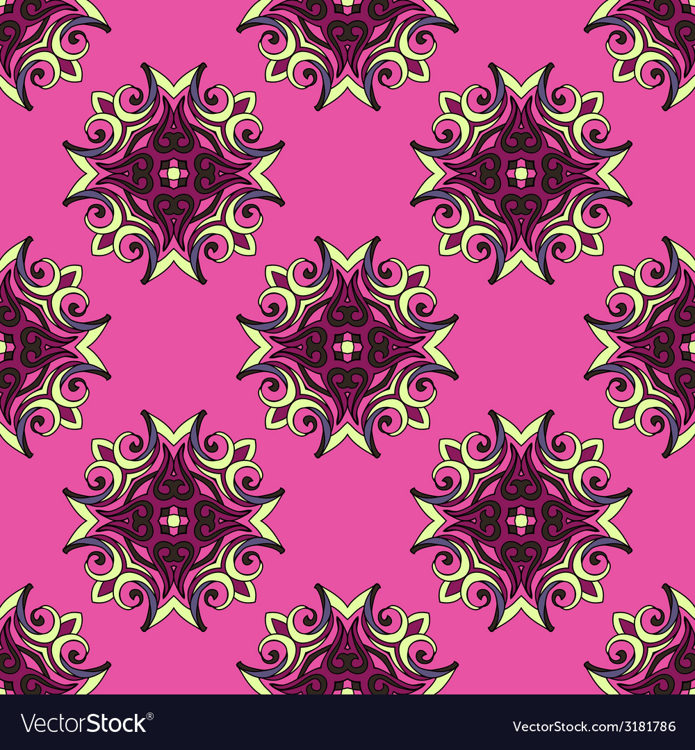 Pink Festive Abstract Pattern vector image