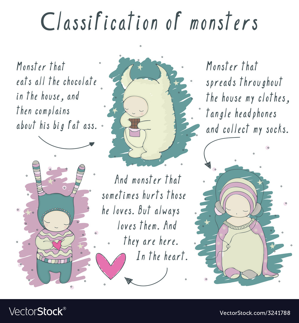 Comics about monsters vector image