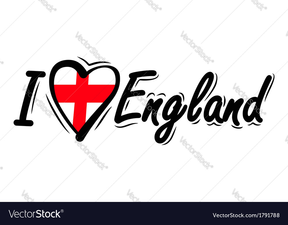 I Love England vector image