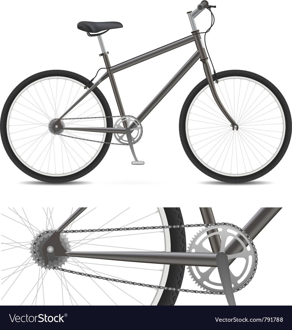 Simple bike vector image
