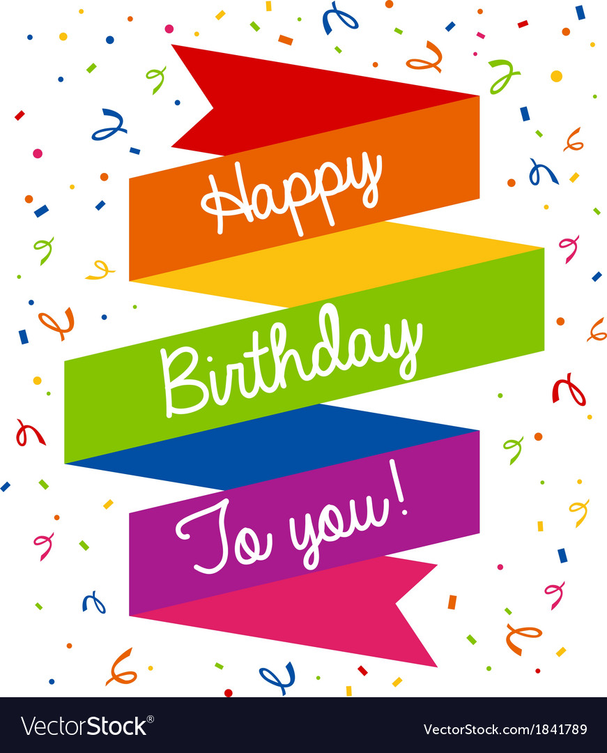 Happy birthday greeting card royalty free vector image happy birthday greeting card vector image kristyandbryce Images