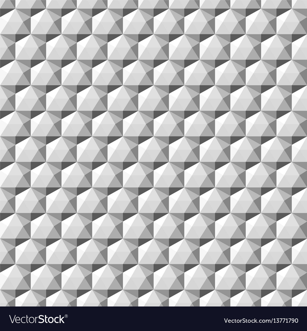 Gray geometric 3d shapes - seamless vector image