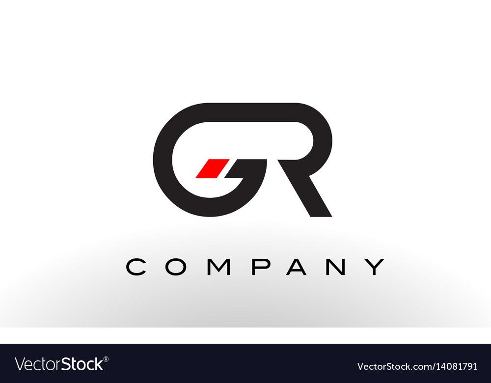 Gr logo letter design vector image