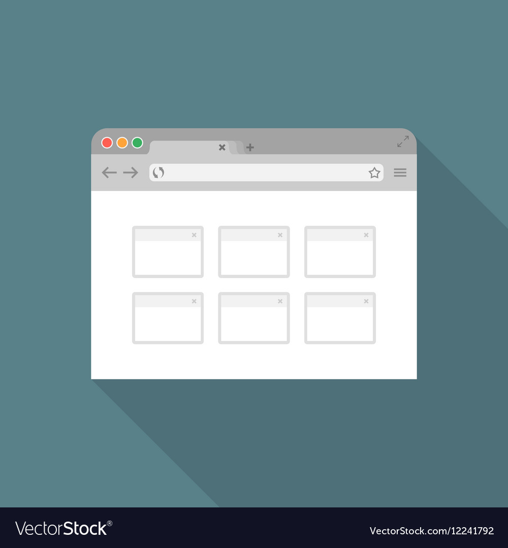 Browser flat icon2 vector image