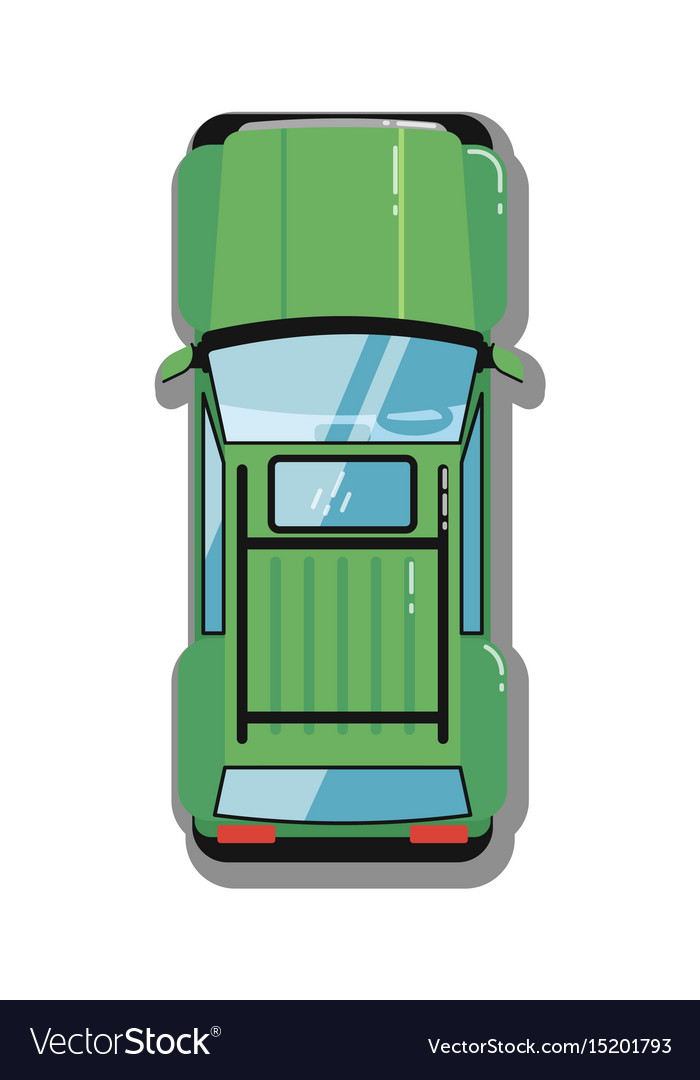 Modern off road car top view icon vector image