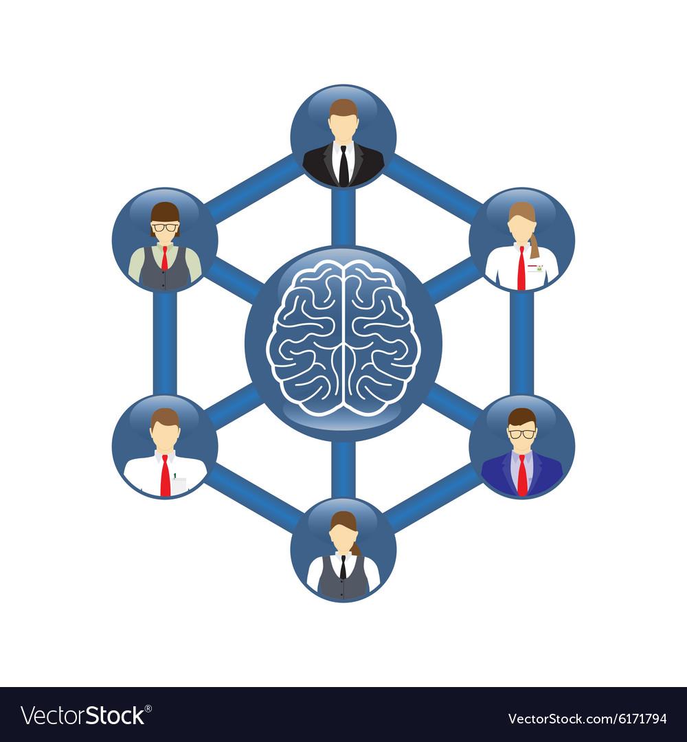 Concept of teamwork Icon Symbol vector image