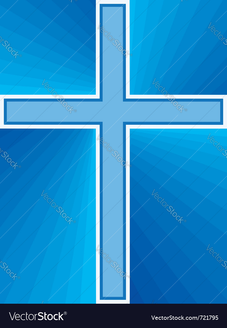Shiny cross abstract vector image