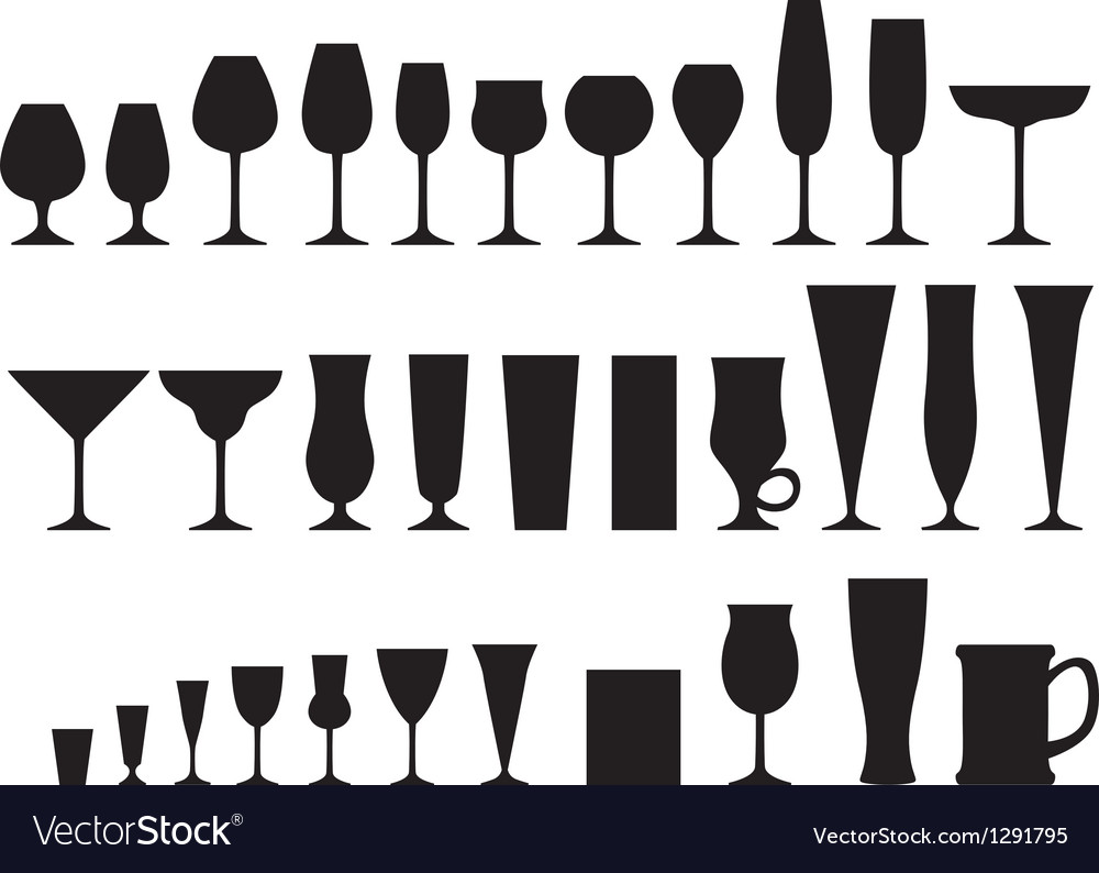Glass goblets vector image