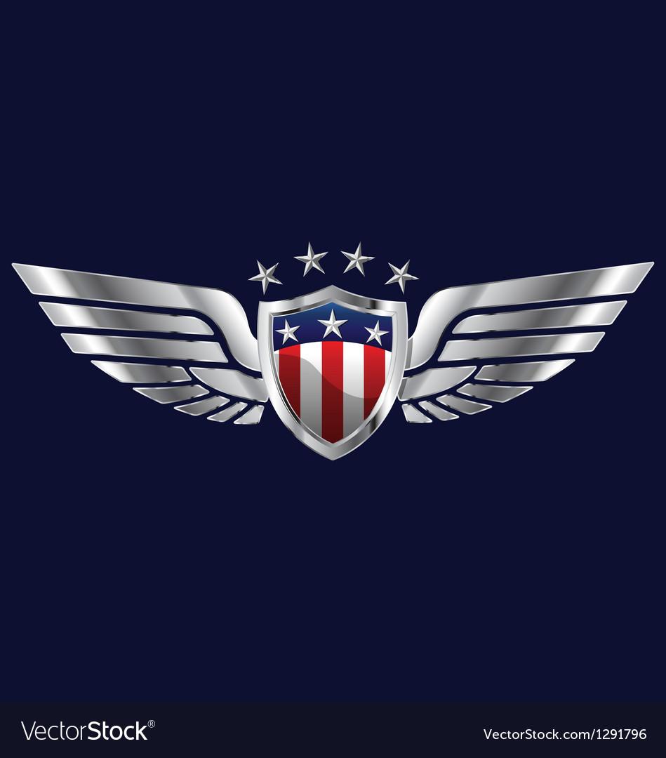 American Wings vector image