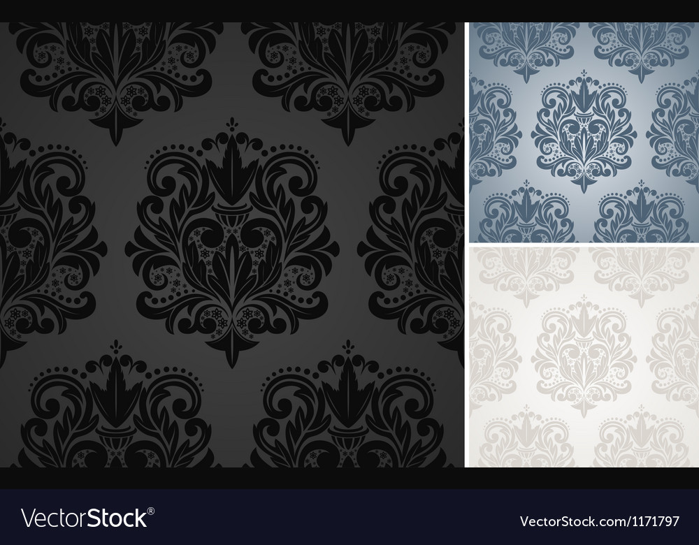 Beautiful damask pattern vector image