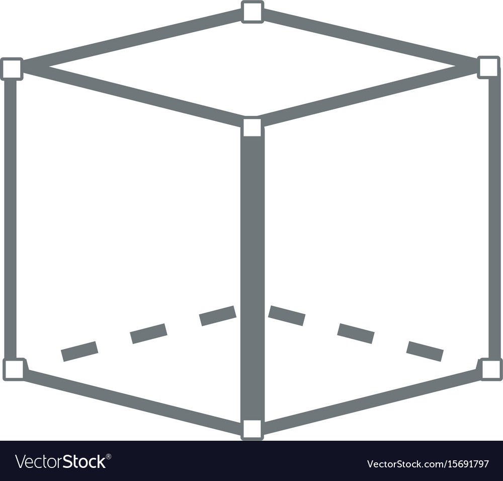 Cube 3d graphic design abstract perspective vector image