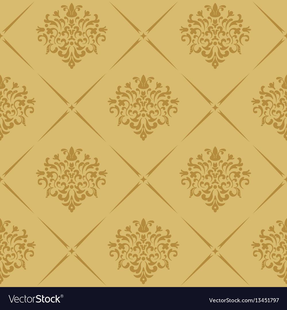 Vintage royal wallpaper seamless vector image