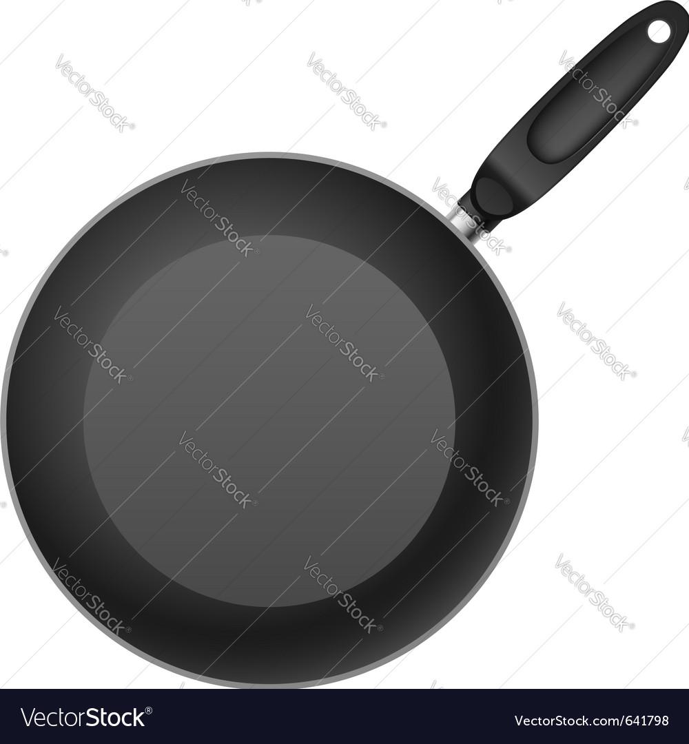 Frying pan vector image