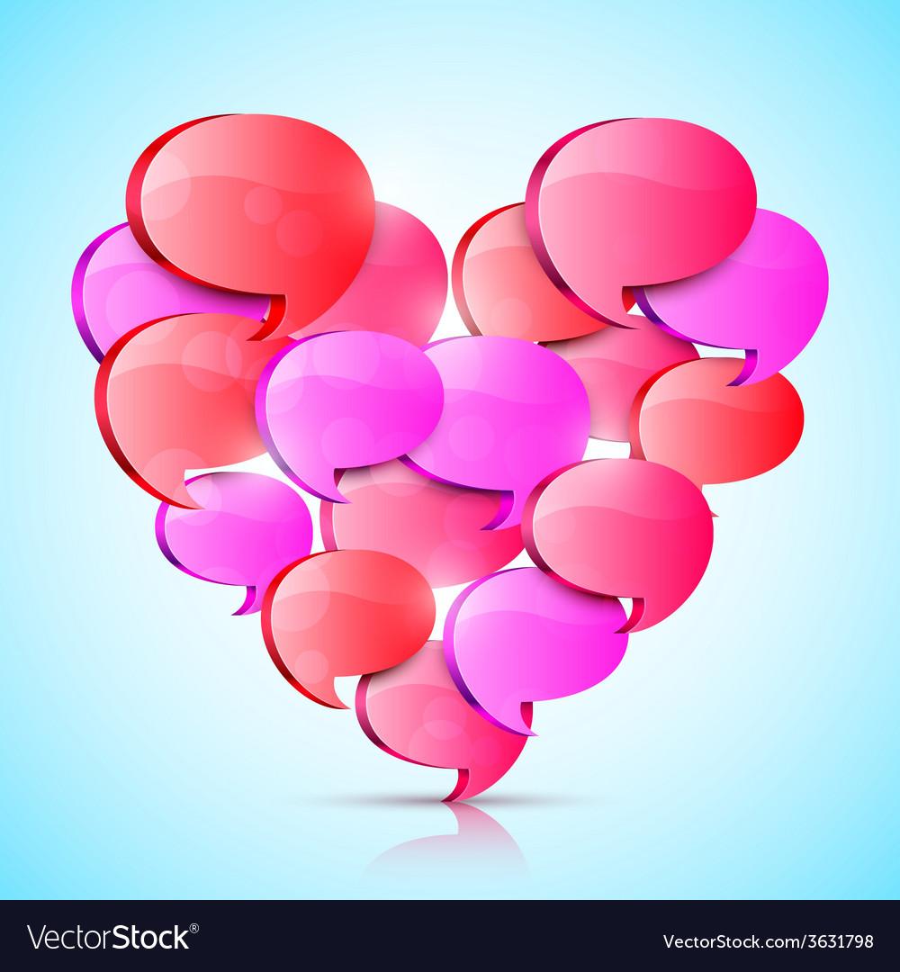 Big Love Heart vector image