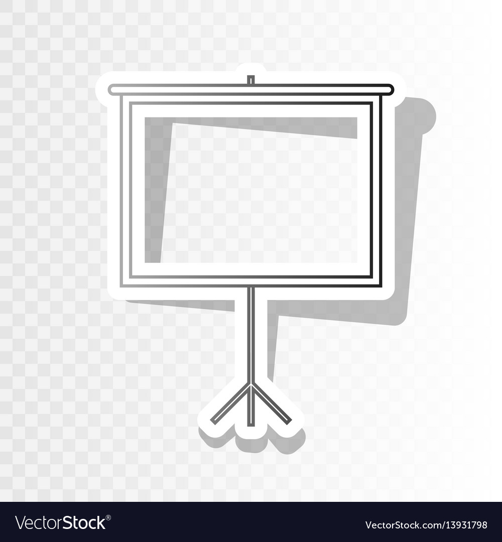 Blank projection screen new year blackish vector image