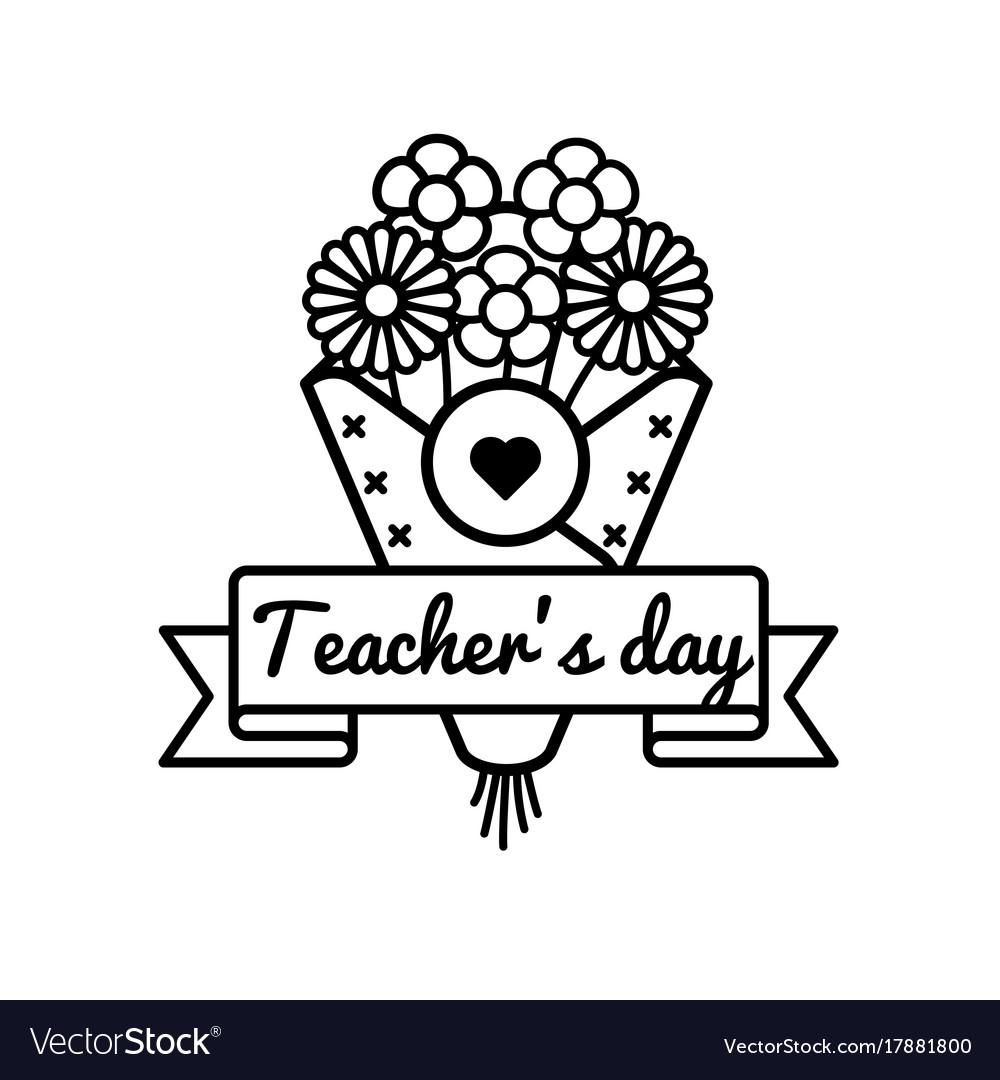 World teachers day greeting emblem royalty free vector image world teachers day greeting emblem vector image kristyandbryce Images