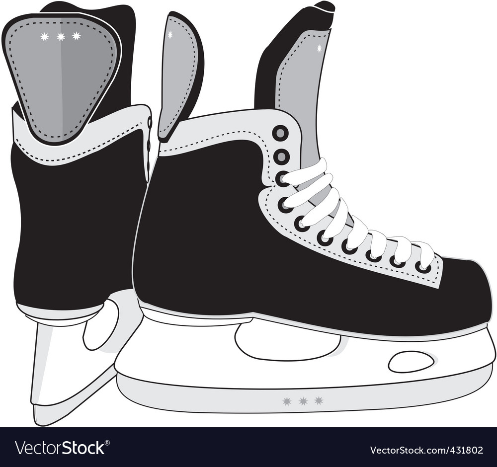 Ice hockey skates boots vector image