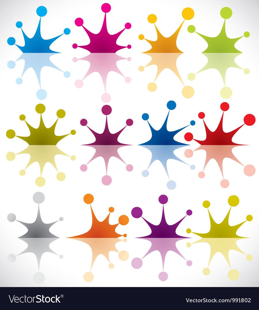 Splash icons vector image