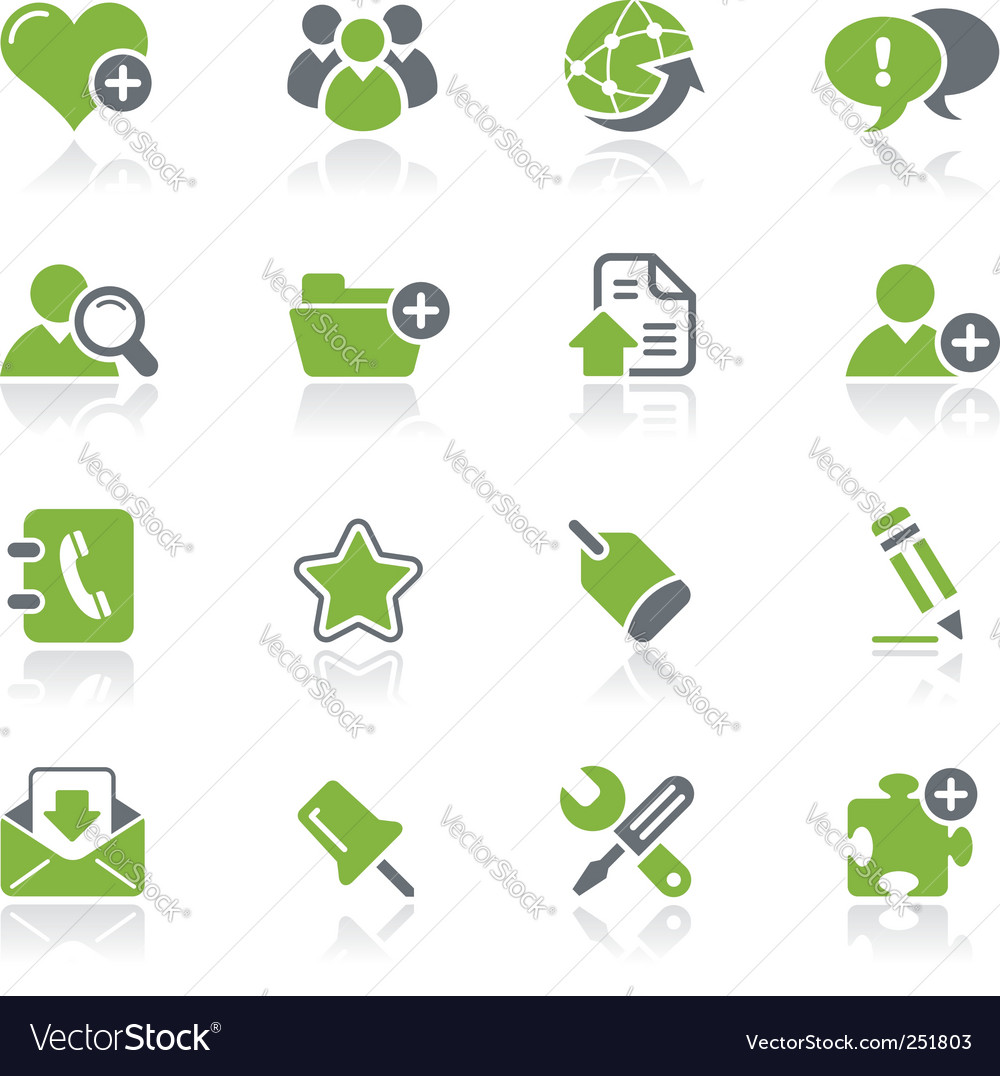 Internet and blog icons vector image