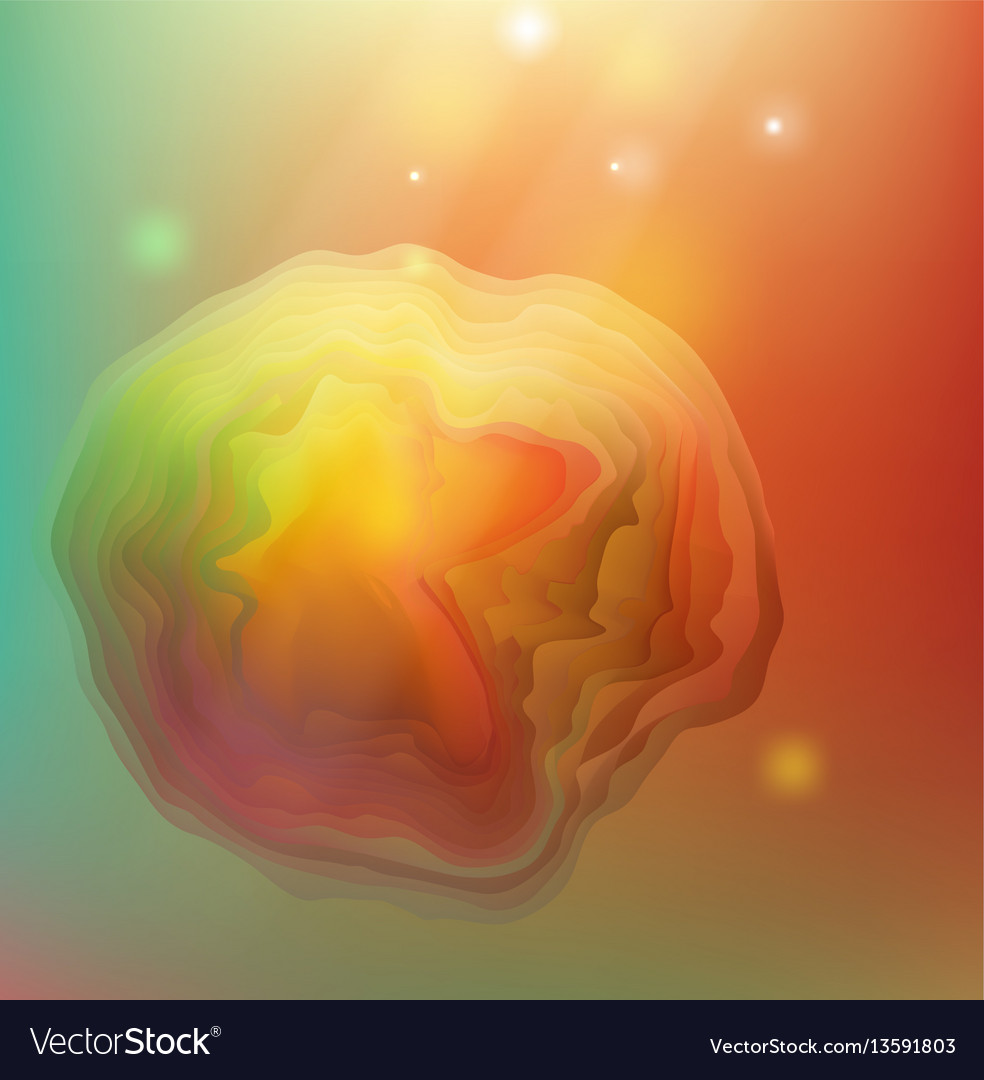 Abstract red and yellow background for design vector image