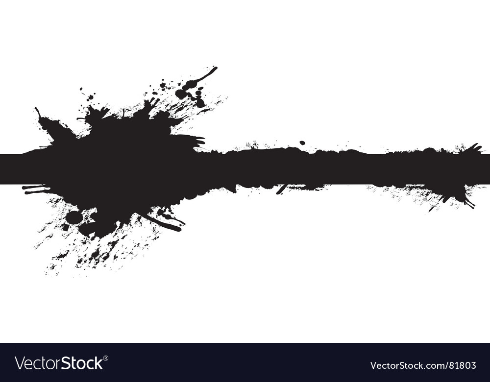 Banner splash vector image