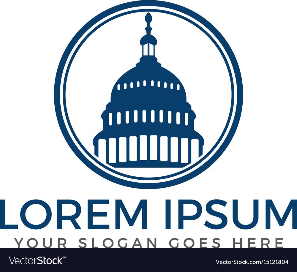 Capitol building logo design vector image