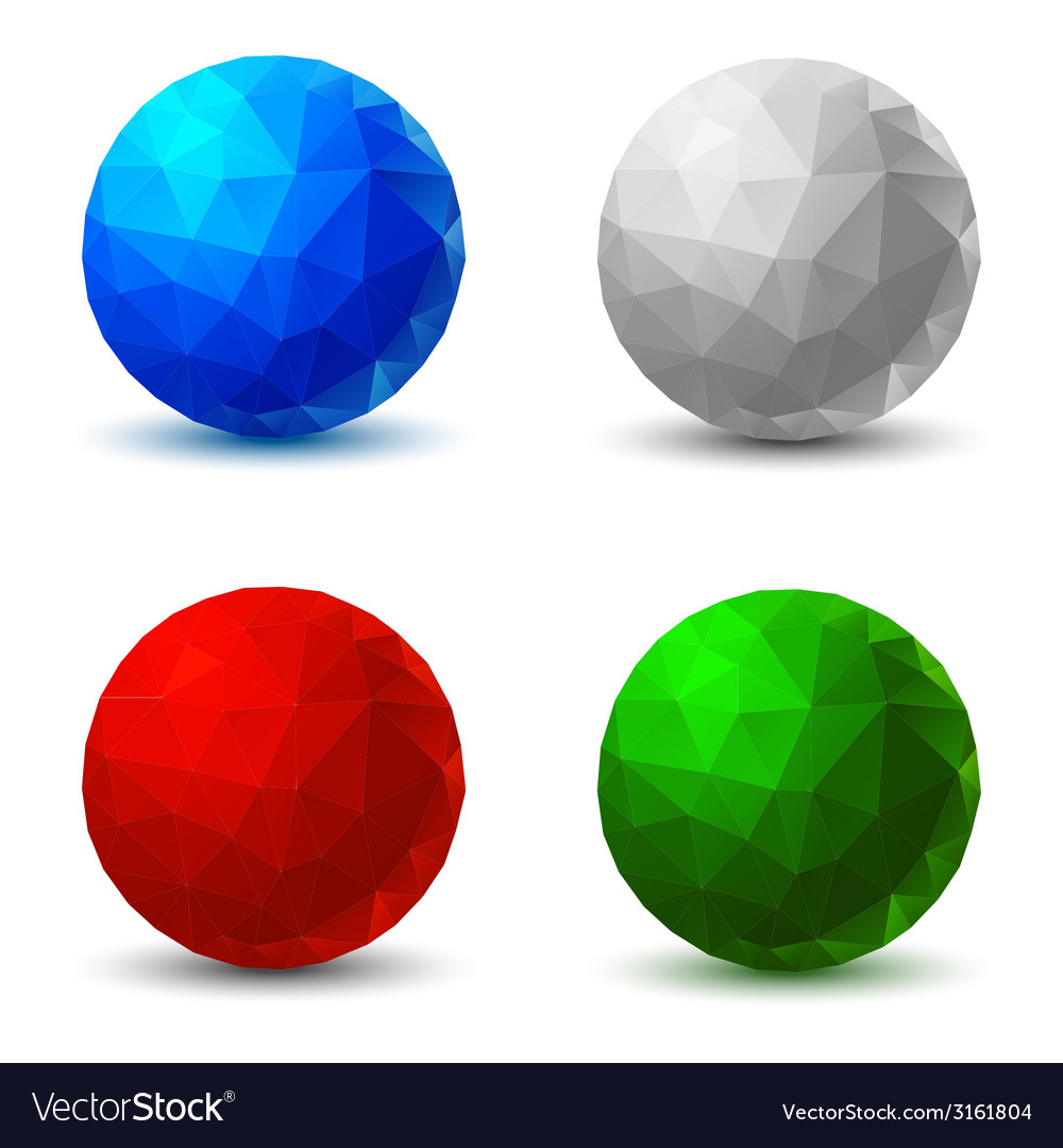 Set of Geometric Balls vector image