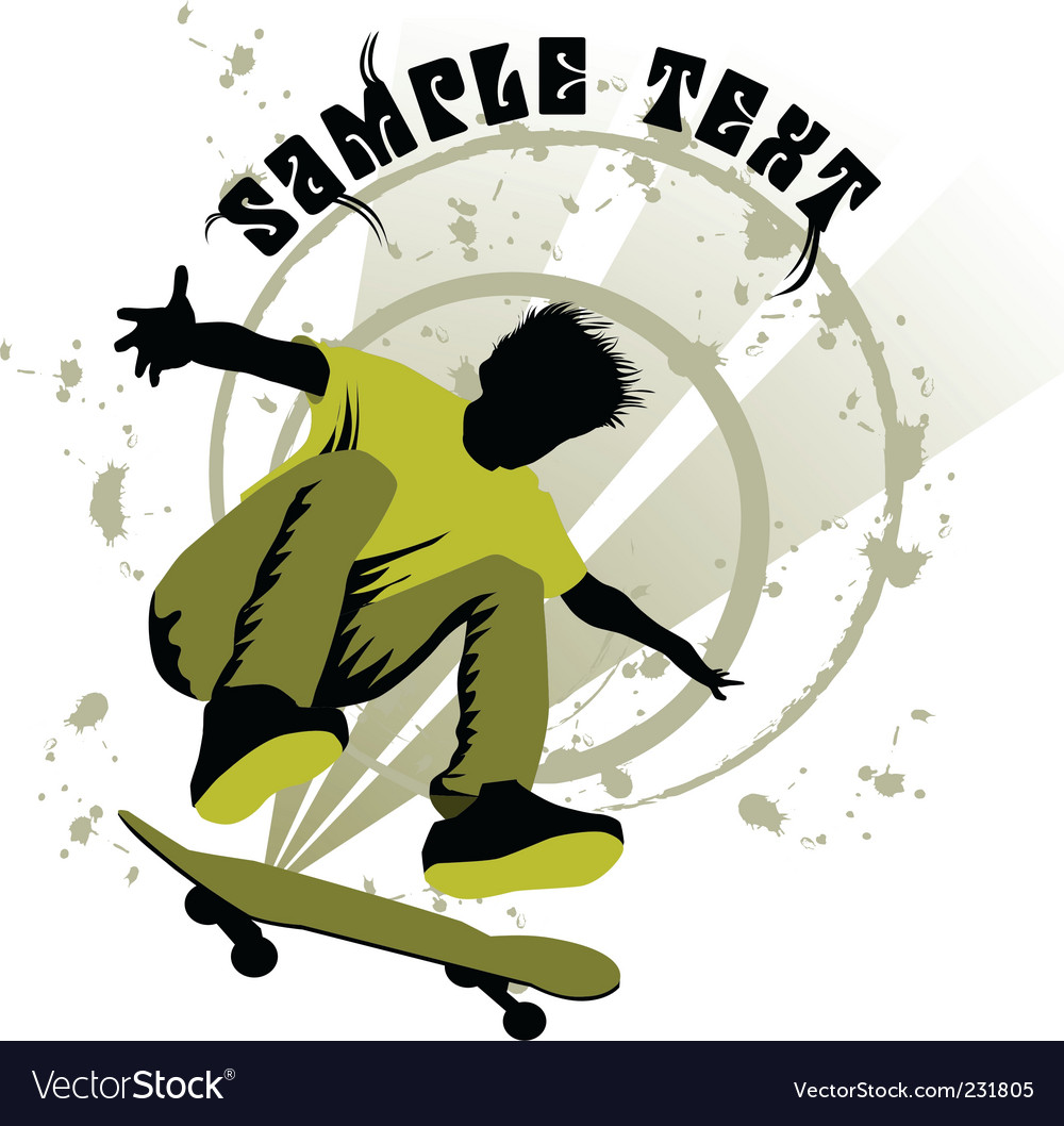 Skateboard boy vector image