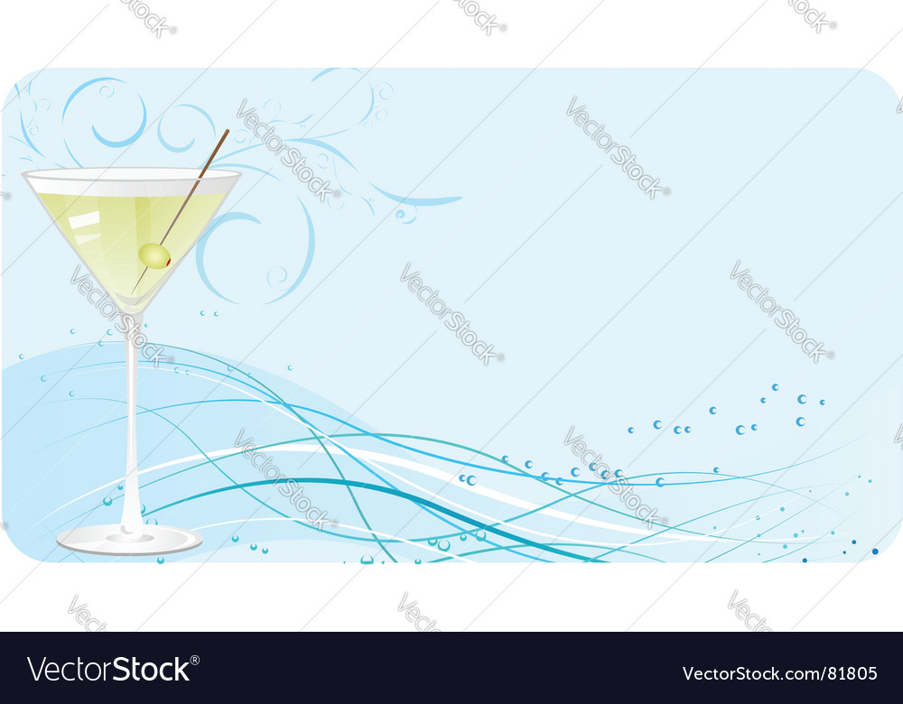 Martini banner vector image