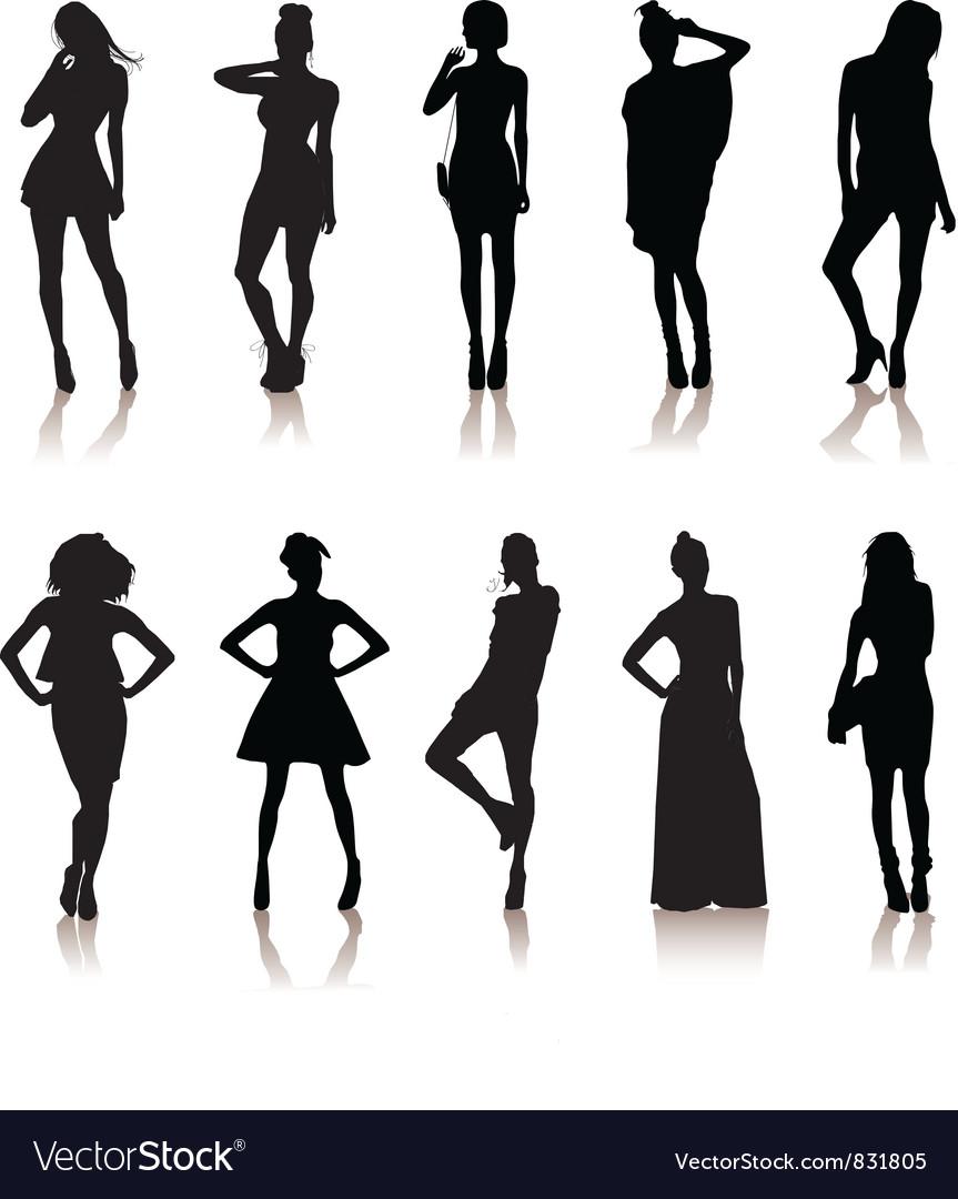 Set of various models vector image