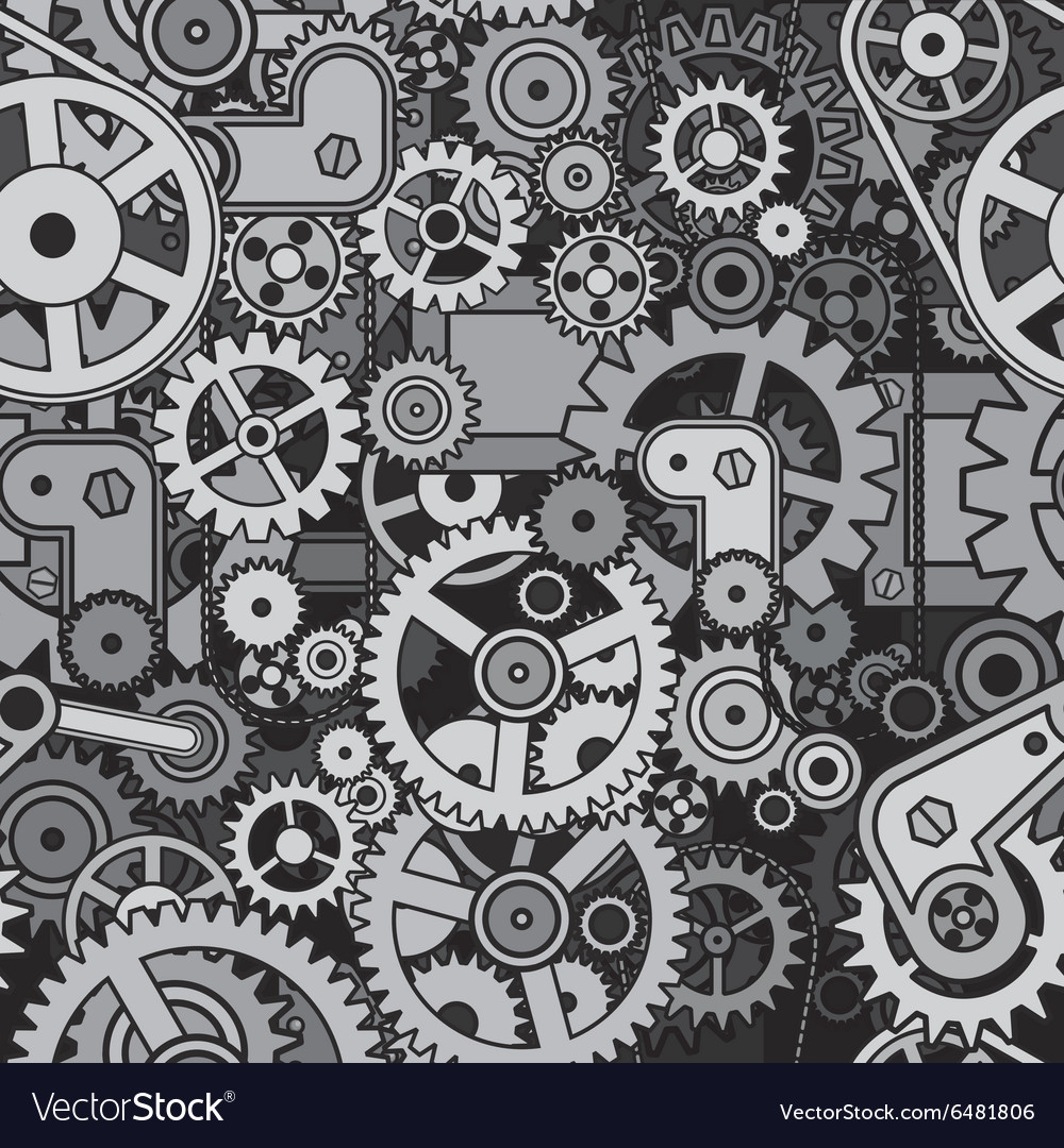 Mechanical Backdrop Seamless Pattern vector image