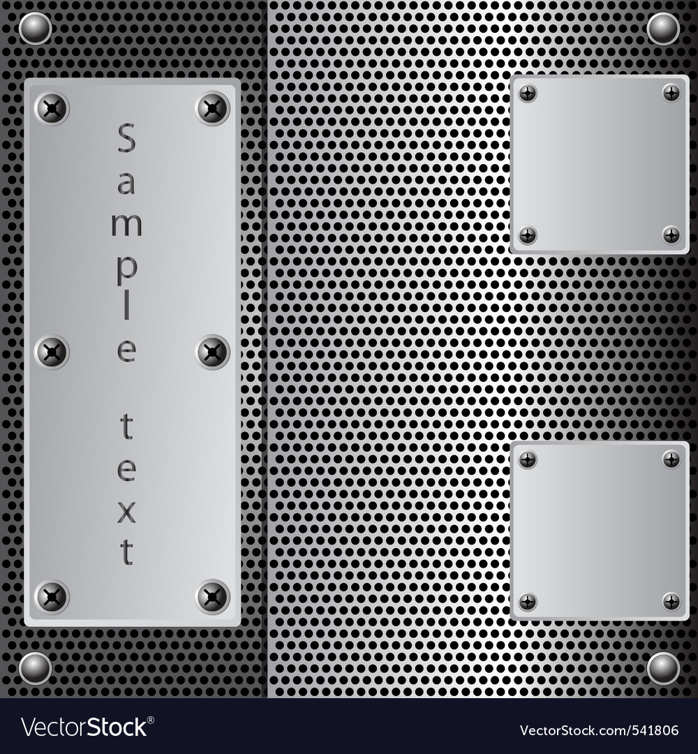 Metal shield background vector image