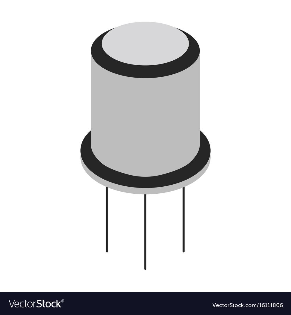 Transistor cartoon icon vector image