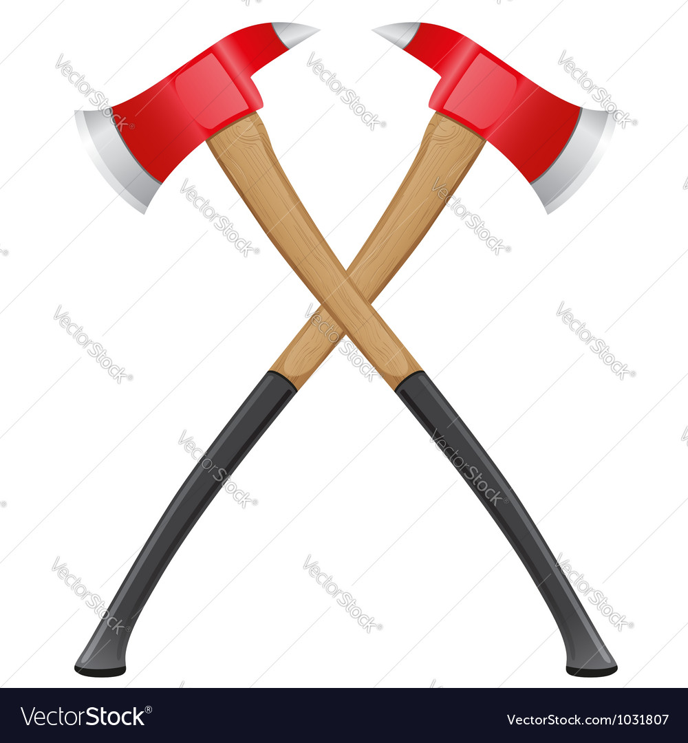 Firefighter ax vector image