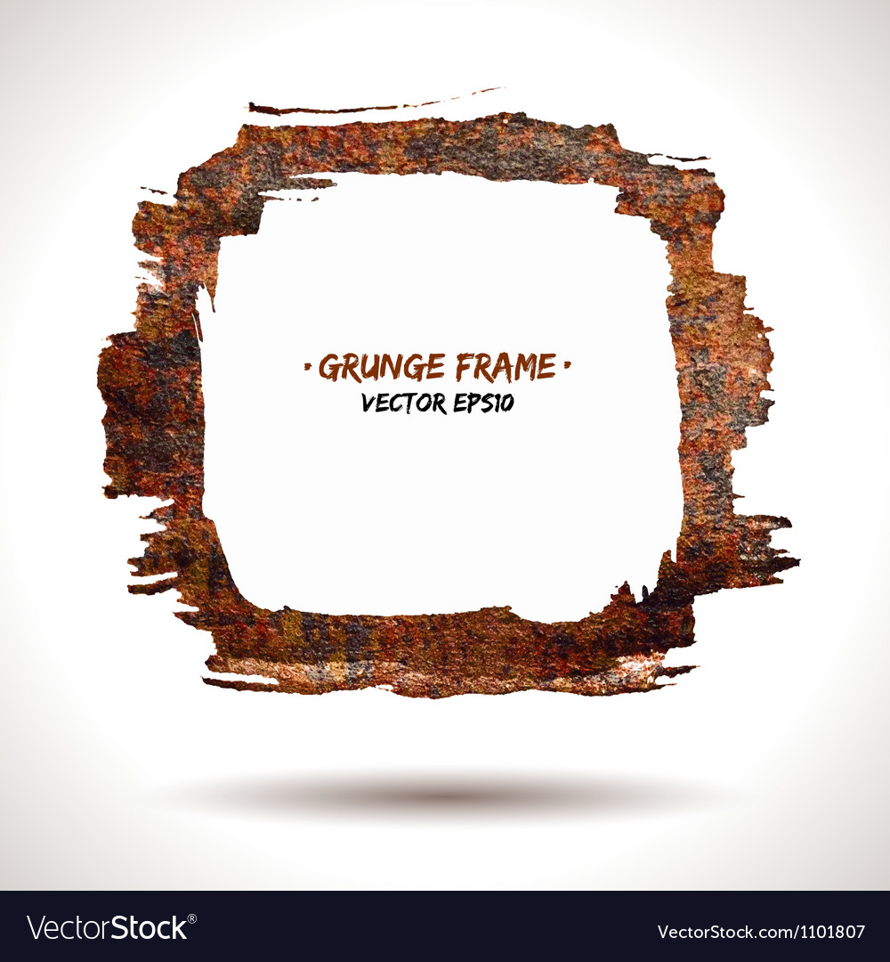 Trendy grunge frame vector image