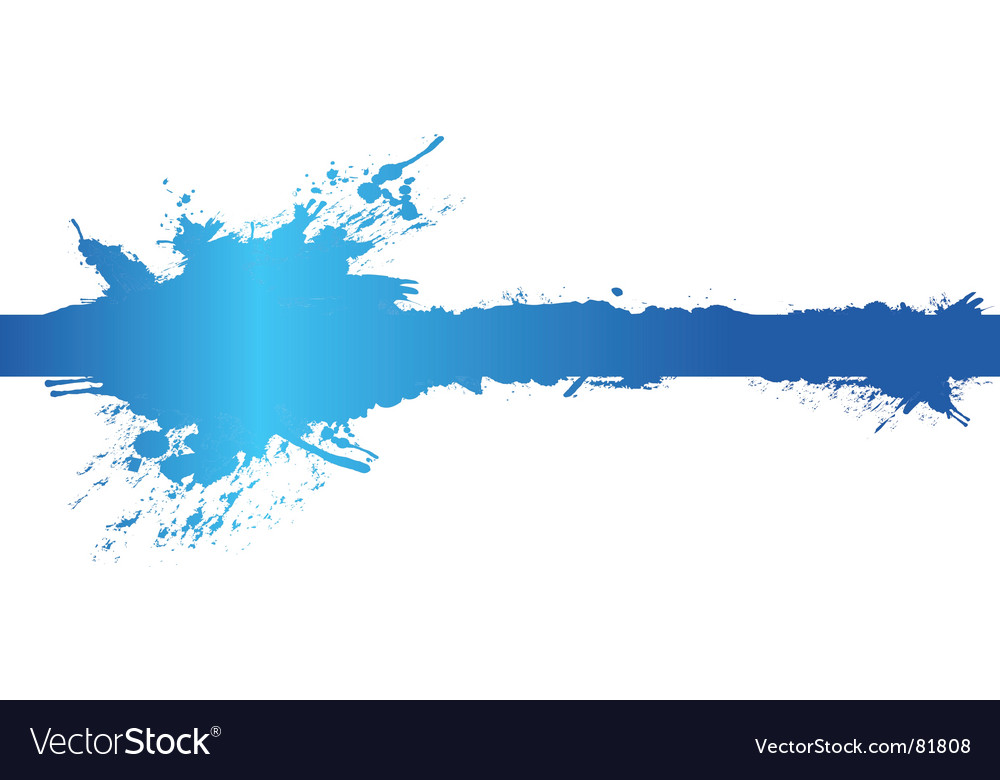 Banner splash vector image