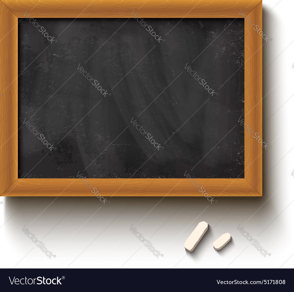 Chalkboard black vector image