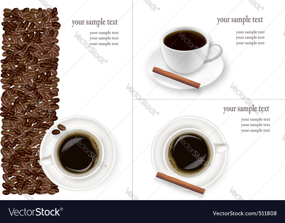 Coffee and beans background vector image