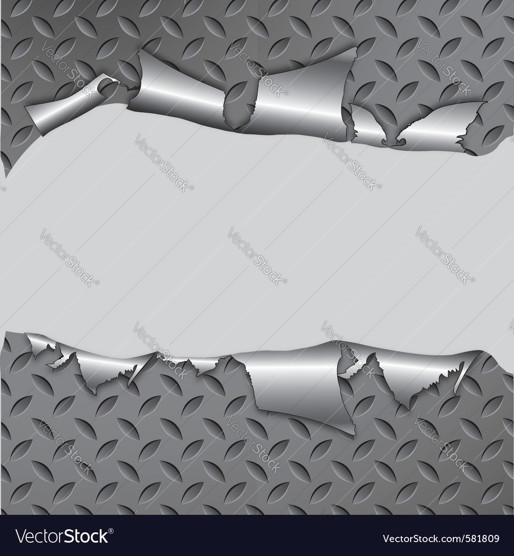 Torn metal vector image
