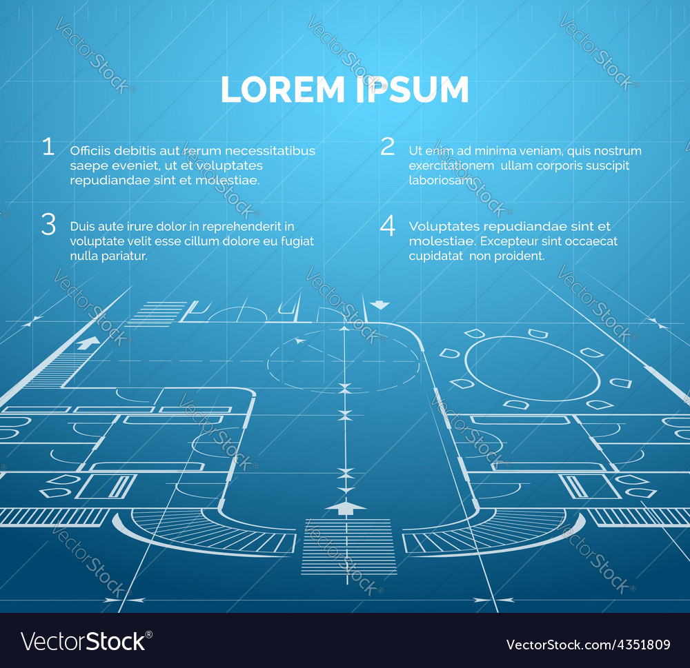 Architectural blueprint background royalty free vector image architectural blueprint background vector image malvernweather Gallery