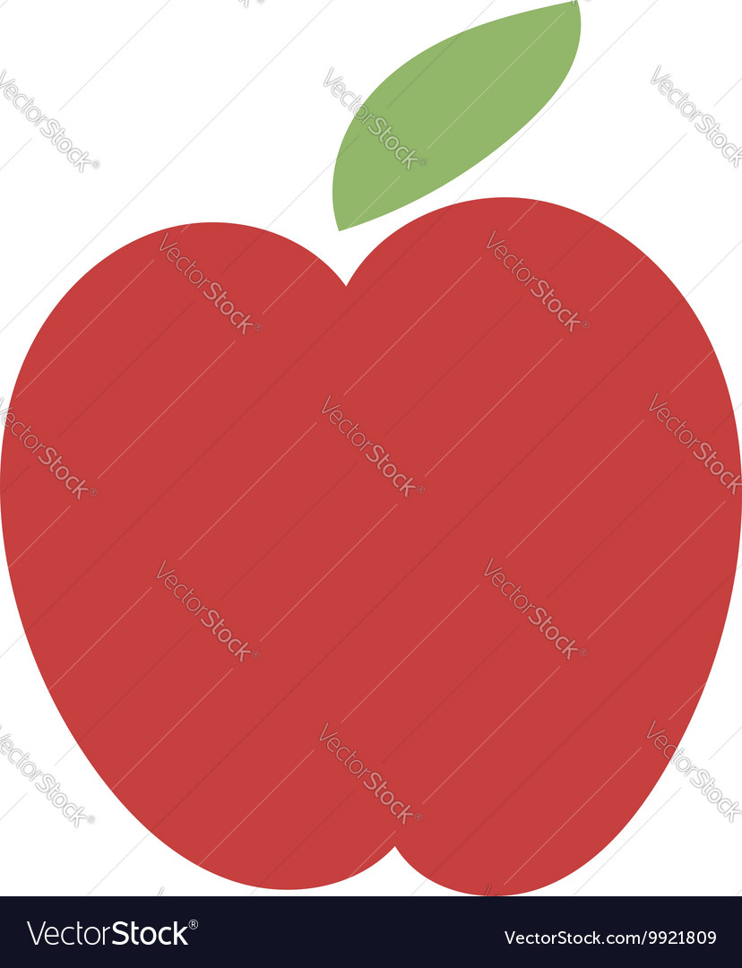 Fresh red apple icon vector image