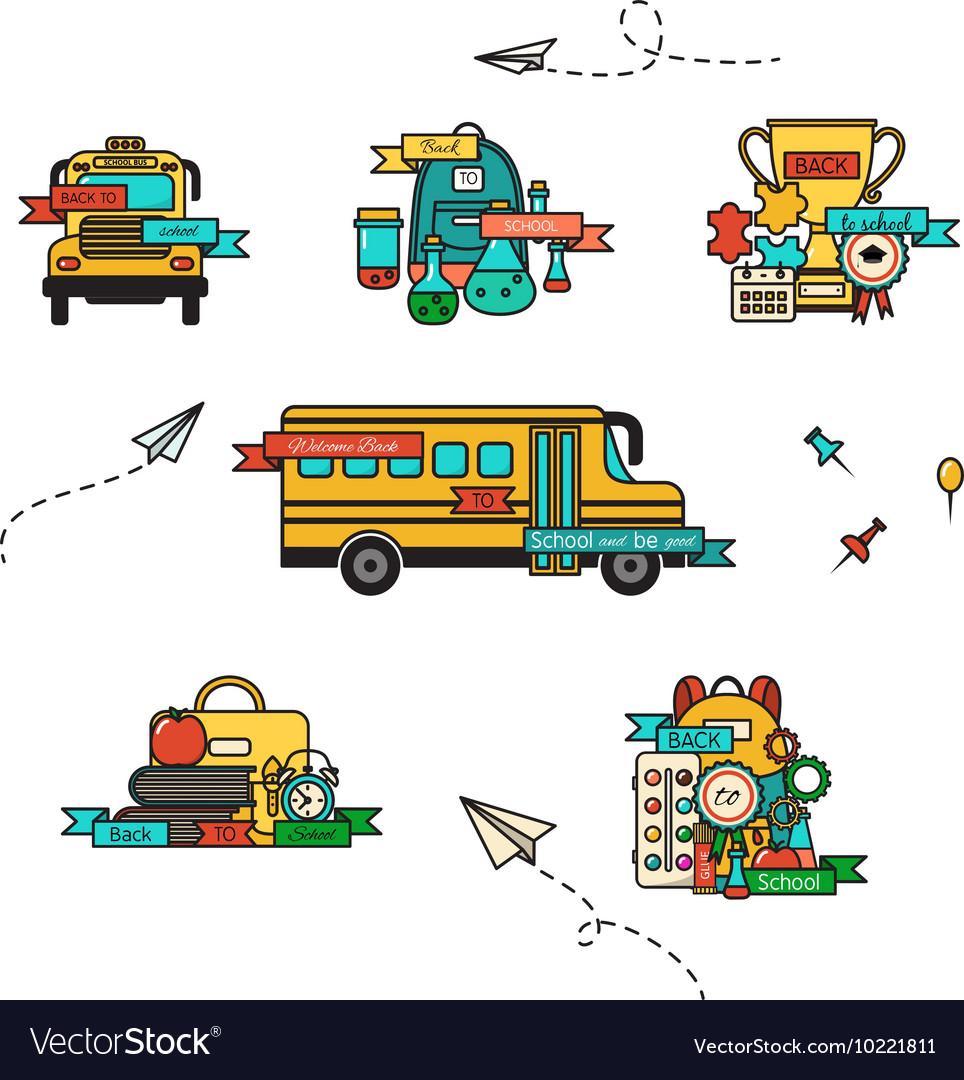 Welcome School Set vector image